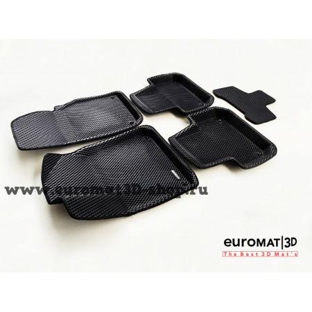 3D Коврики Euromat3D EVA В Салон Для AUDI Q7 (2015-) № EM3DEVA-001108