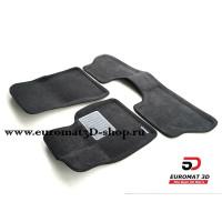 Текстильные 3D коврики Euromat3D Business в салон для BMW X5 (E-70) (2008-2014) № EMC3D-001212G Серые