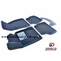 Текстильные 3D коврики Euromat3D Business в салон для BMW 5 (G30) (2017-) № EMC3D-001219
