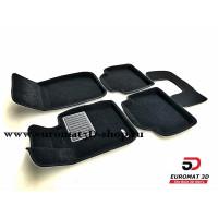 Текстильные 3D коврики Euromat3D Business в салон для BMW 3 (F30) (2010-) X-Drive № EMC3D-001223