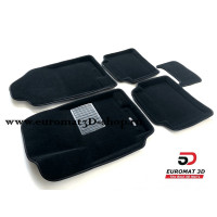 Текстильные 3D коврики Euromat3D Business в салон для Kia Rio (2011-) № EMC3D-002922