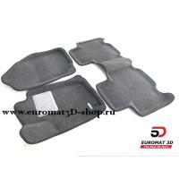 Текстильные 3D коврики Euromat3D Business в салон для TOYOTA Rav 4 (2013-) № EMC3D-005125G Серые