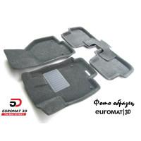 Текстильные 3D Коврики Euromat3D Business В Салон Для Kia Ceed (2012-) № EMC3D-002706G Серые