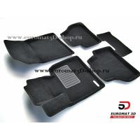 Текстильные 3D коврики Euromat3D Business в салон для BMW X3 (F25) (2010-) № EMC3D-001210