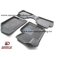Текстильные 3D коврики Euromat3D Business в салон для HYUNDAI ix35 (2010-) № EMC3D-002707G Серые