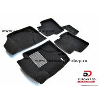 Текстильные 3D коврики Euromat3D Business в салон для HYUNDAI i30 (2009 по 2011) № EMC3D-002722