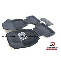 Текстильные 3D Коврики Euromat В Салон Для VOLVO S 80 (2006-) № EM3D-005507G Серые