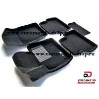Текстильные 3D коврики Euromat3D Business в салон для AUDI Q3 (2012-) № EMC3D-001113