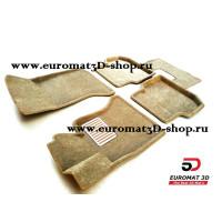 Текстильные 3D коврики Euromat в салон для BMW 5 (F10) (2010-2013) № EM3D-001205T Бежевый