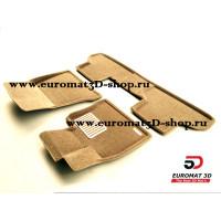 Текстильные 3D коврики Euromat в салон для BMW X5 (E70) (2008-2014) № EM3D-001212T Бежевый