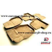 Текстильные 3D коврики Euromat3D Business в салон для VOLVO XC 60 (2008-) № EMC3D-005505T Бежевые