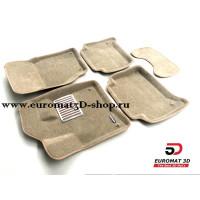 Текстильные 3D коврики Euromat в салон для AUDI Q7 (2005-2014) № EM3D-001105T Бежевый