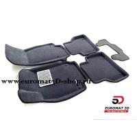 Текстильные 3D Коврики Euromat В Салон Для AUDI A7 (2019-) № EM3D-001111G Серые