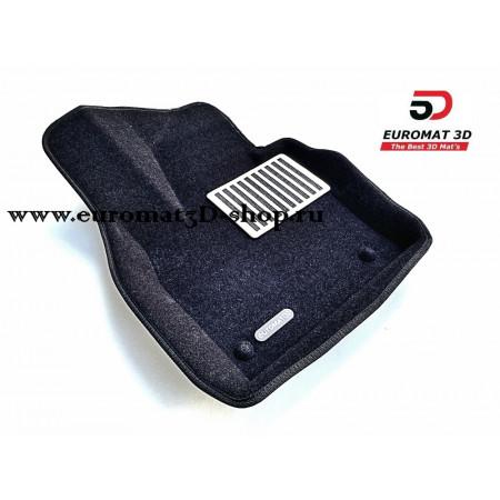 Текстильные 3D коврики Euromat в салон для AUDI Q3 (2012-) № EM3D-001113