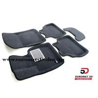 Текстильные 3D Коврики Euromat В Салон Для BMW X3 (F25) (2010-) № EM3D-001210G Серые