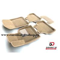 Текстильные 3D Коврики Euromat В Салон Для BMW X3 (F25) (2010-) № EM3D-001210T Бежевые