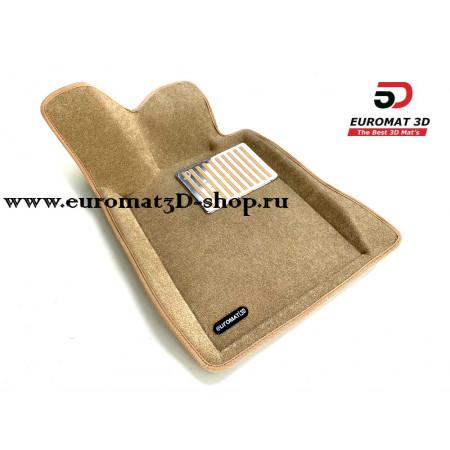 Текстильные 3D Коврики Euromat В Салон Для BMW 3 GT (F34) № EM3D-001216T Бежевые