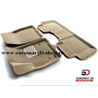 Текстильные 3D Коврики Euromat В Салон Для Cadillac XT5 (2017-) № EM3D-001307T Бежевые
