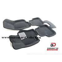 Текстильные 3D Коврики Euromat В Салон Для VOLKSWAGEN Passat B6 (2005-2011) № EM3D-005412G Серые