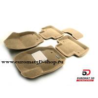 Текстильные 3D коврики Euromat в салон для VOLVO XC 70 (2007-) № EM3D-005507T Бежевые