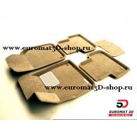 Текстильные 3D коврики Euromat в салон для AUDI Q7 (2015-) № EM3D-001108T Бежевые