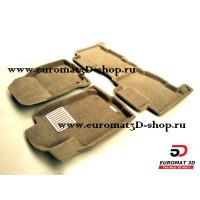 Текстильные 3D коврики Euromat в салон для TOYOTA Rav 4 (2013-) № EM3D-005125T Бежевые