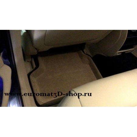 Текстильные 3D коврики Euromat в салон для BMW 5 G30 (2017-) № EM3D-001219T Бежевые
